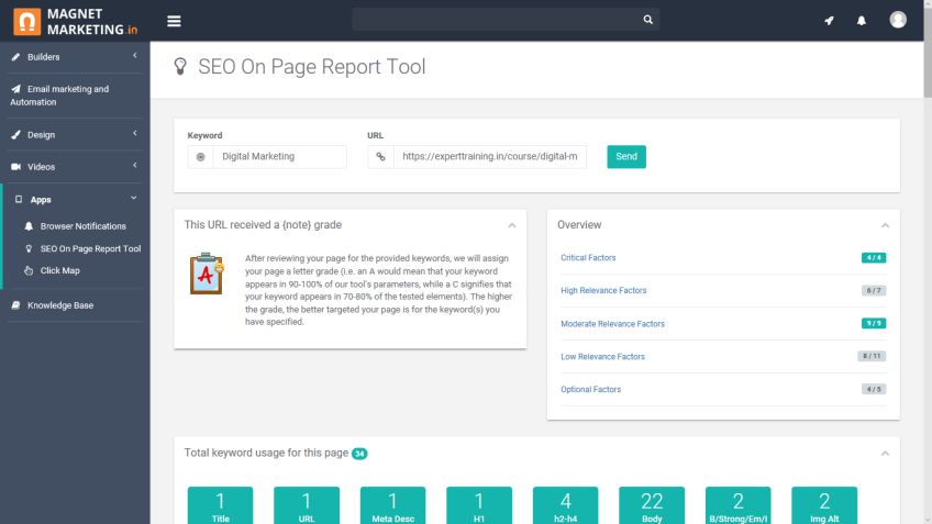 SEO Audit Report Tool